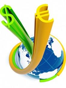 devises (dollars et Euro) en mouvement autour du globe