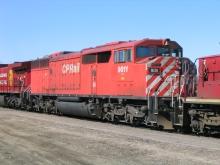 Train de marchandise du Canadian Pacific, photo tirée de Wikimedia Commons