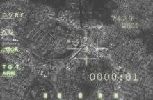 Image générée par un ordinateur Aircraft à bord d'un avion de chasse, montrant une cible, prêt à faire feu. Image: Thinkstock